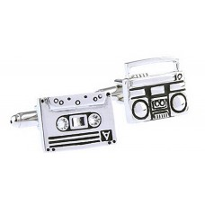 Cufflinks: Audio cassette and radio cassette player