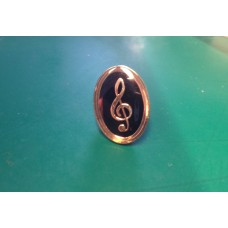 Oval Pin with G or treble clef