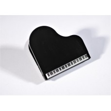 Clip for score or music stand, sheet holder, with magnet. Grand piano.