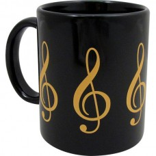 Cup or mug with G or treble clef. Various colours