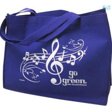 Work bag (musical) or for shopping with G clef and score. Recycled material. Various colors