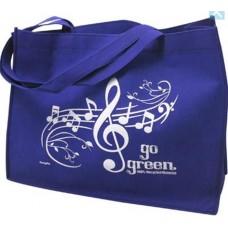 Arbeit (Musical) oder Einkaufen Tasche mit G-Schlüssel und Partitur. Recyceltes Material. Verschiedene Farben