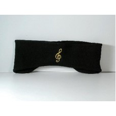 Polar Fleece Strap forehead/ears with a G clef