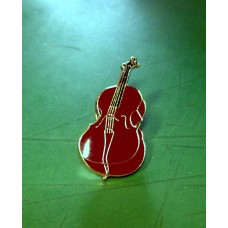 Pin brooch with cello