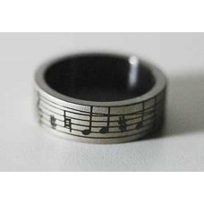 Steel band ring. Musical score