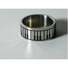 Steel ring. Piano keyboard