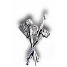 Alchemy pin brooch: Drum sticks and brushes, drummer