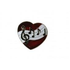 Pin I love music