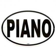 Aufkleber, auch für Autos: Klavier