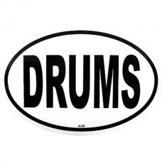 Sticker, also for cars: Drums