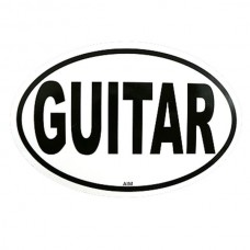 Sticker, also for cars: Guitar