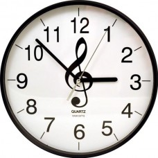 Wall clock with G clef