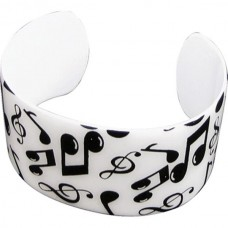 Band bracelet with musical notes and accidents. Various colors