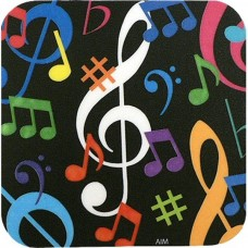 Coasters with colorful musical notes
