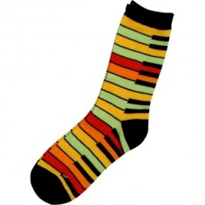 Colorful socks with piano keyboard