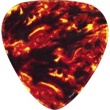 Mouse pad, mat, in the shape of a fiery plectrum