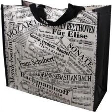Arbeit (Musical) oder Einkaufen Tasche mit klassischen Noten