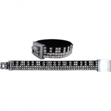 Bracelet with 4 rows of crystals: piano keyboard