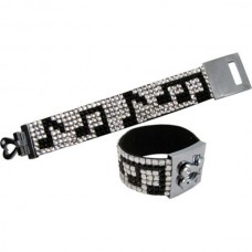 Bracelet with 7 rows of crystals: musical notes