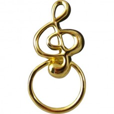 G clef-shaped eyeglasses holder