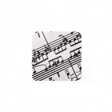 Large coasters with musical score