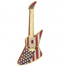 Pin Gibson Explorer American Flag guitar