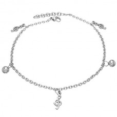 Steel bracelet or anklet: treble or G clef