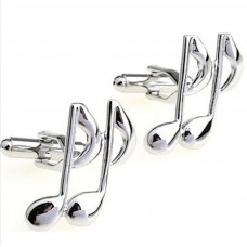Cufflinks: Notes, two musical eighths, great