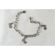 Steel bracelet. With musical eighth notes