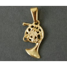 Necklace with golden French horn