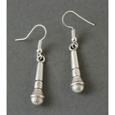 Earrings with Shure type microphone